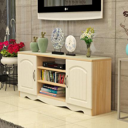 thuỷ tinh Tủ tivi hiện đại đơn giản Tủ kính cường lực châu Âu phòng khách kết hợp bàn cà phê căn hộ