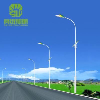SAIWEI Đèn LED sân vườn Đèn sân vườn ngoài trời nông thôn mới Đèn đường năng lượng mặt trời 6 mét hộ