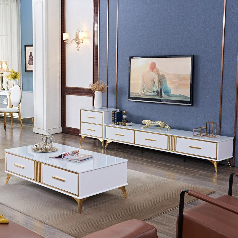 DINGSHANG Kệ Tivi Bàn cà phê tối giản Bắc Âu TV tủ kết hợp lưu trữ lưu trữ sau hiện đại tối giản phò