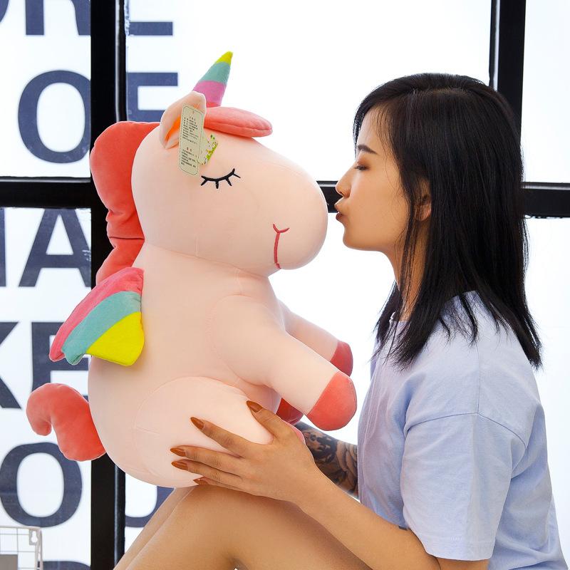 Búp bê vải 2020 New Plush Toy Rag Doll Nhà sản xuất Logo Tùy chỉnh Xuống Bông Rainbow Pegasus Unicor