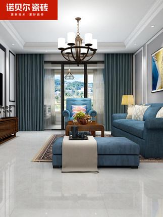 Nobel Gạch men sứ  Gạch Nobel Màu xám đơn giản cao cấp màu xám phòng khách phòng ăn gạch lát sàn 800