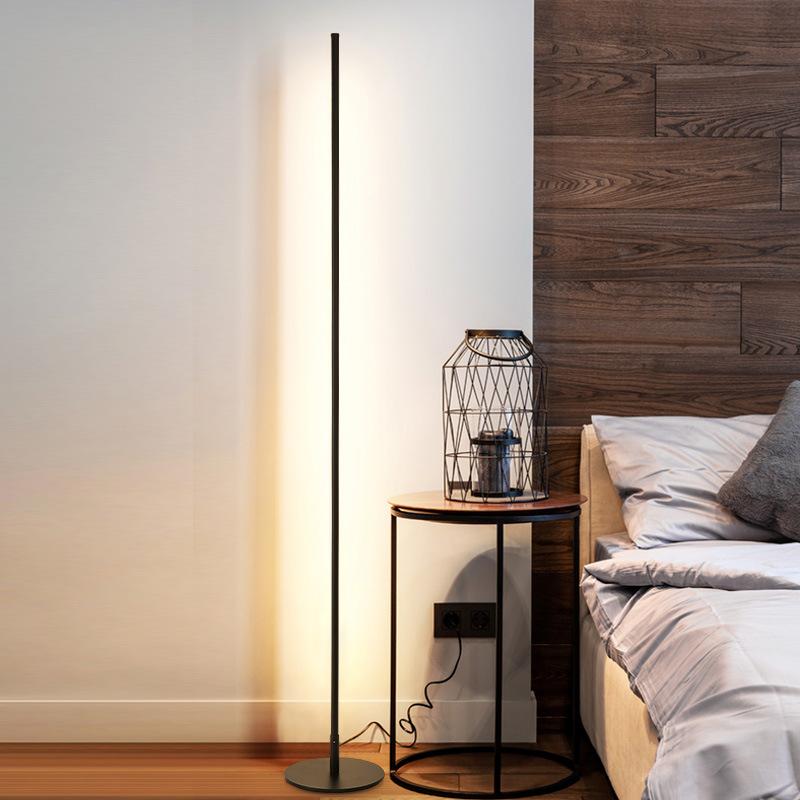 XUANLANGE Đèn âm đất Đèn led tối giản hiện đại tối giản phong cách bắc âu in lưới dọc phòng khách mà