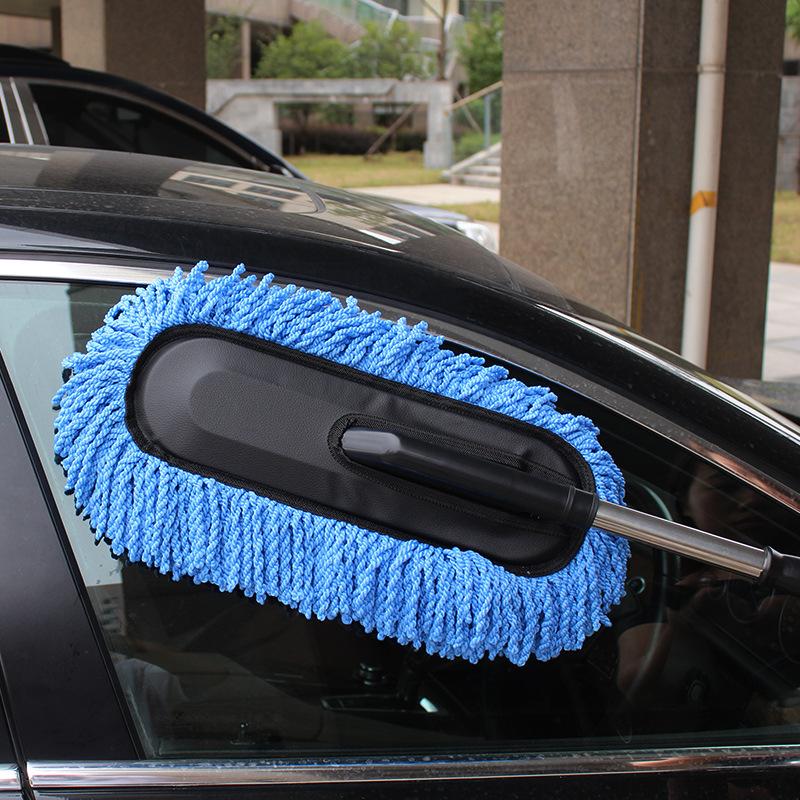 RUICAI bàn chải sáp Có thể thu vào bàn chải làm sạch ô tô Microfiber bụi sáp Sáp rửa xe sáp Sáp loại