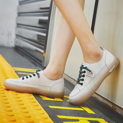 HEIJU Giày da một lớp 2020 mùa xuân mới thoáng khí da bò Phiên bản Hàn Quốc của giày trắng Giày nữ đ