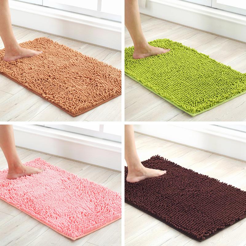 WASH Đệm chân Tôi yêu cuộc sống Chenille chân mat phòng khách phòng ngủ cửa phòng tắm mat nhà bếp ch
