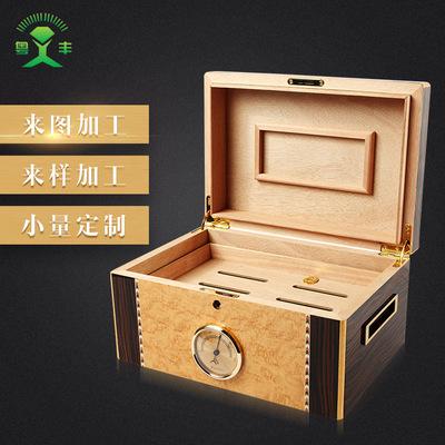 3 Hộp da Chuyên nghiệp tùy chỉnh chất lượng cao veneer phun sơn hộp xì gà
