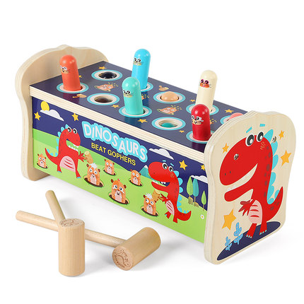 moondog Đồ chơi bằng gỗ Đồ chơi gopher bằng gỗ 0 trí thông minh trẻ nhỏ 1-12 tuổi rưỡi 3 bé trai bé
