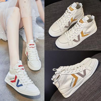 HUANLEDENG Giày Sneaker / Giày trượt ván Giày da nữ cao cấp 2020 mùa xuân mới giày nữ bình thường Gi
