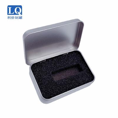LIAOQIAO Hũ kim loại U đĩa thiếc kẹp tóc đồ trang sức phổ quát hộp đóng gói 87 * 60 * 18 lật hộp thi