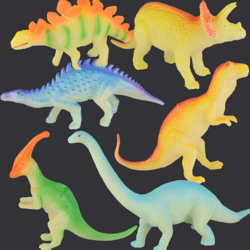 BEIERYOU Đồ chơi phát sáng Mô hình khủng long lớn xuyên biên giới đồ chơi huỳnh quang ánh sáng khủng