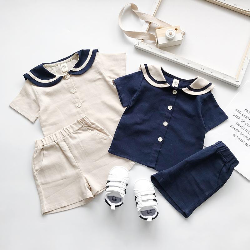 MENGDANGDANG Đồ Suits trẻ em Mai Dora 19 mùa hè mới dành cho trẻ em Hàn Quốc kiểu quần short ngắn ta