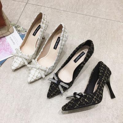Crape myrtle Giày da một lớp Mùa xuân mới 2020 giày đơn nữ phiên bản Hàn Quốc của mũi nông màu cánh