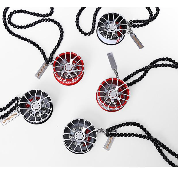 CJWW Thị trường đồ trang trí xe hơi Mặt dây chuyền bánh xe, xe treo trang sức cá tính, mặt dây chuyề