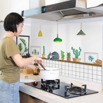 Giấy dán tường  Nhiệt độ cao tự dính chống thấm gạch gốm hình nền tủ bếp mui xe tân trang nhãn dán t