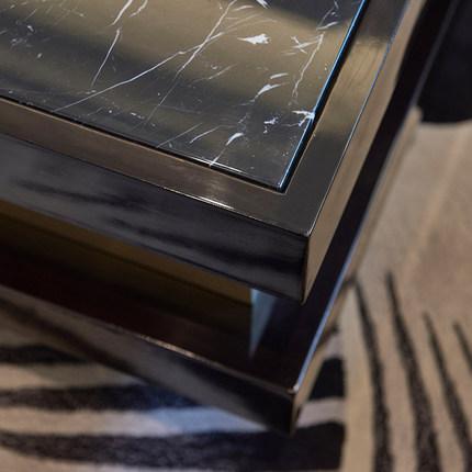 Đá hoa cương  Hồng Kông phong cách ánh sáng sang trọng bàn cà phê TV kết hợp tủ đá cẩm thạch vuông v