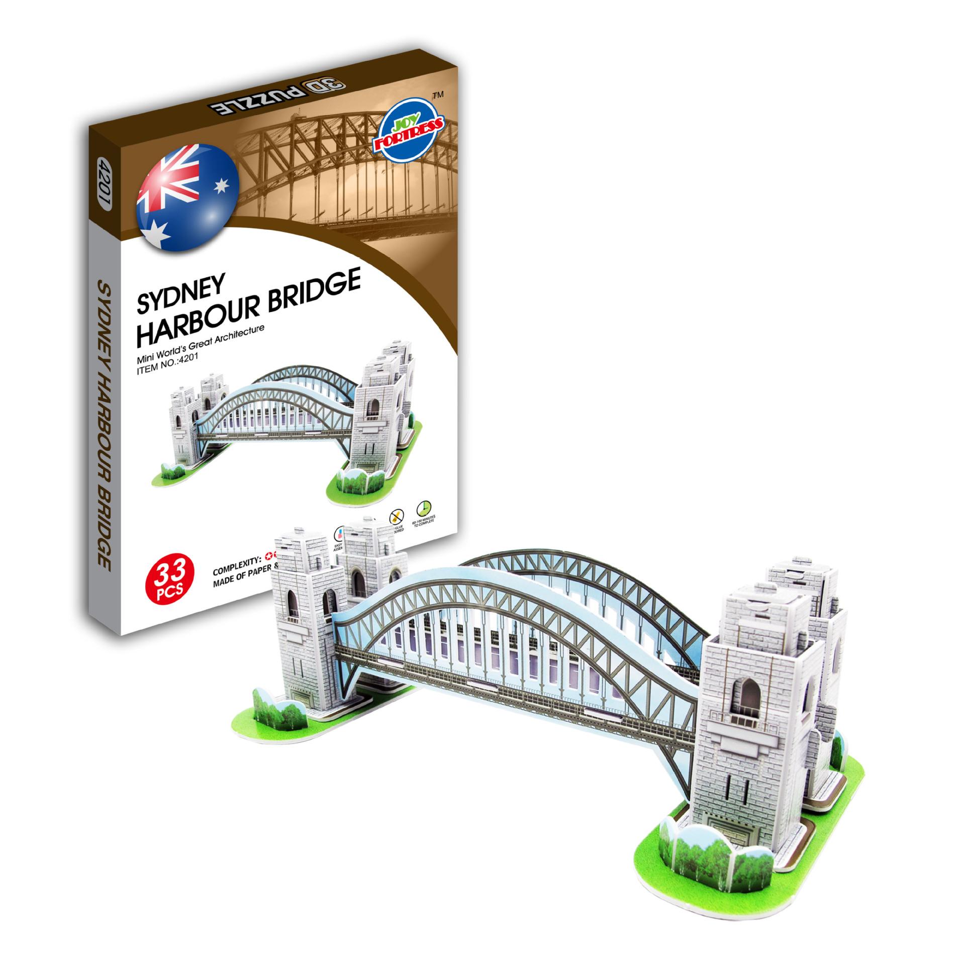 JOY FORTRESS Tranh xếp hình 3D Mini tòa nhà nổi tiếng 3D câu đố 3D PUZZLE chất lượng cao
