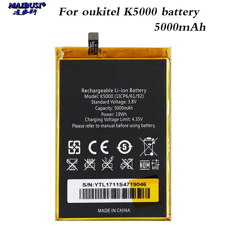 MAIBUSI Pin điện thoại Dành cho pin điện thoại di động OUKITEL K5000 K6000 PRO K7000 K8000 K10000