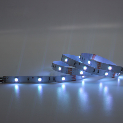 ZX Đèn LED dây Nhà sản xuất nguồn cung cấp 5050 12V một mét 30 đèn nhiều màu RGB thanh trần bảng dải