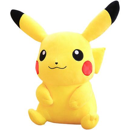 Aoger  gối ôm Dễ thương Pikachu búp bê đồ chơi sang trọng nữ Bikachu búp bê lớn ngủ lớn gối cô gái q
