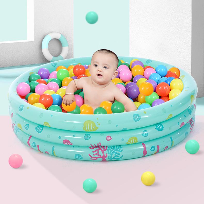 bể bơi trẻ sơ sinh Xia Lang giá thấp bán nóng ba vòng trẻ em in hồ bơi em bé hồ bơi mái chèo câu cá