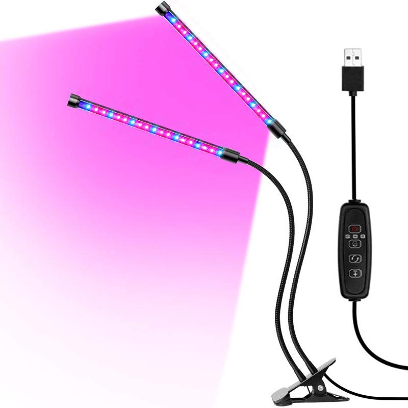 Đèn LED kích thích sinh trưởng cây trồng 60 LED /USB đèn clip có thể điều chỉnh độ sáng