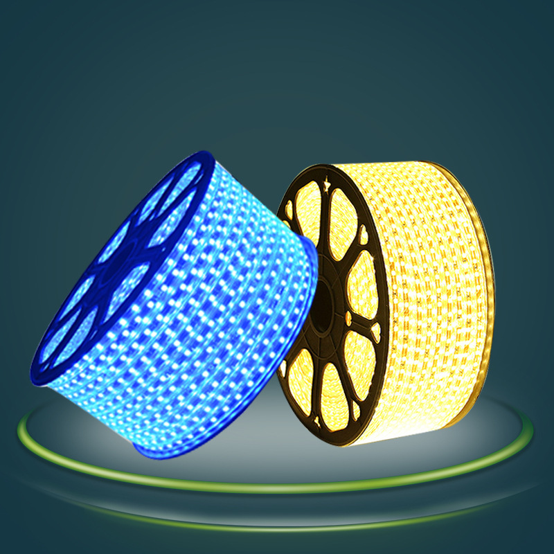 LINGSHENG Đèn LED dây led5050 dải đèn 3014 SMD 220 khe tối phòng khách trần mềm dải sáng nổi bật dải