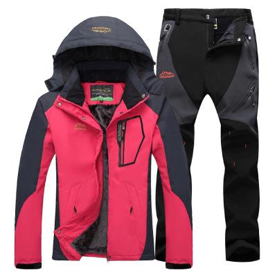 Quần áo leo núi Bước vào độc quyền cho mùa thu và mùa đông ngoài trời cộng với nhung dày phù hợp với