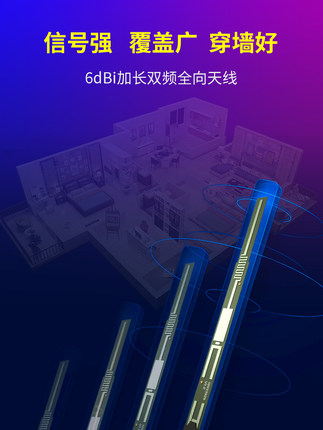 Bộ định tuyến không dây Tengda tốc độ cao WiFi 5g tần số gigabit