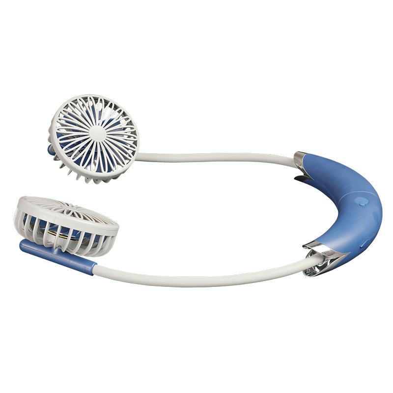 SZDJ Quạt máy Quạt treo cổ mới sạc USB thể thao ngoài trời cầm tay quạt điện đa chức năng câm Seten