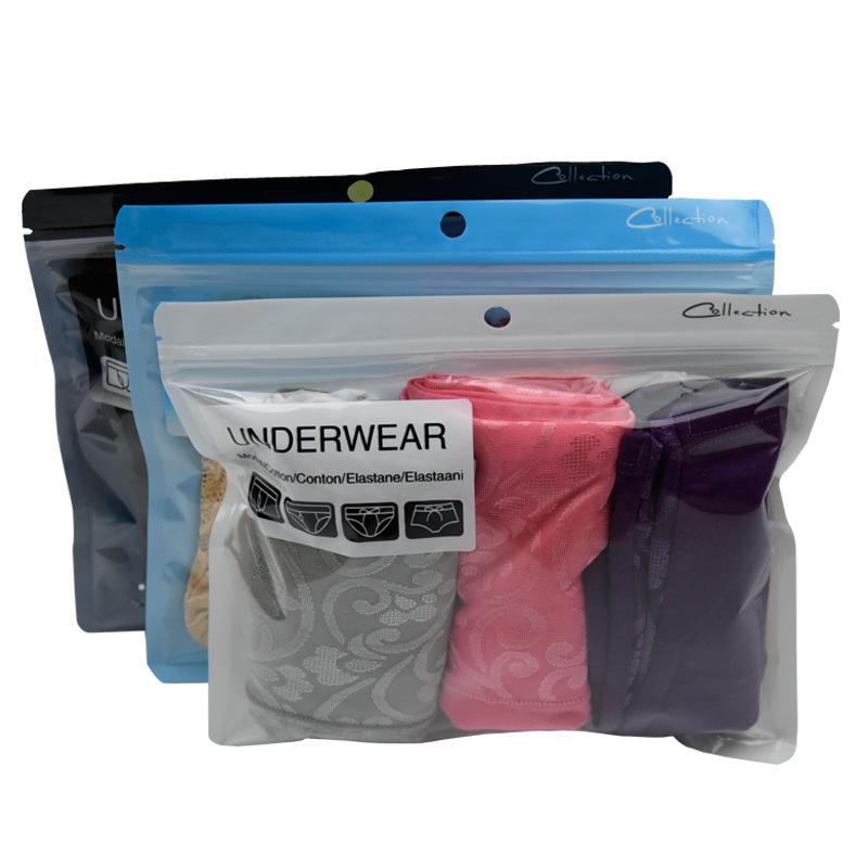GEPIN Túi đựng quần lót Túi nhựa tại chỗ bán buôn đồ lót dày túi unisex đồ lót trong suốt bao bì túi