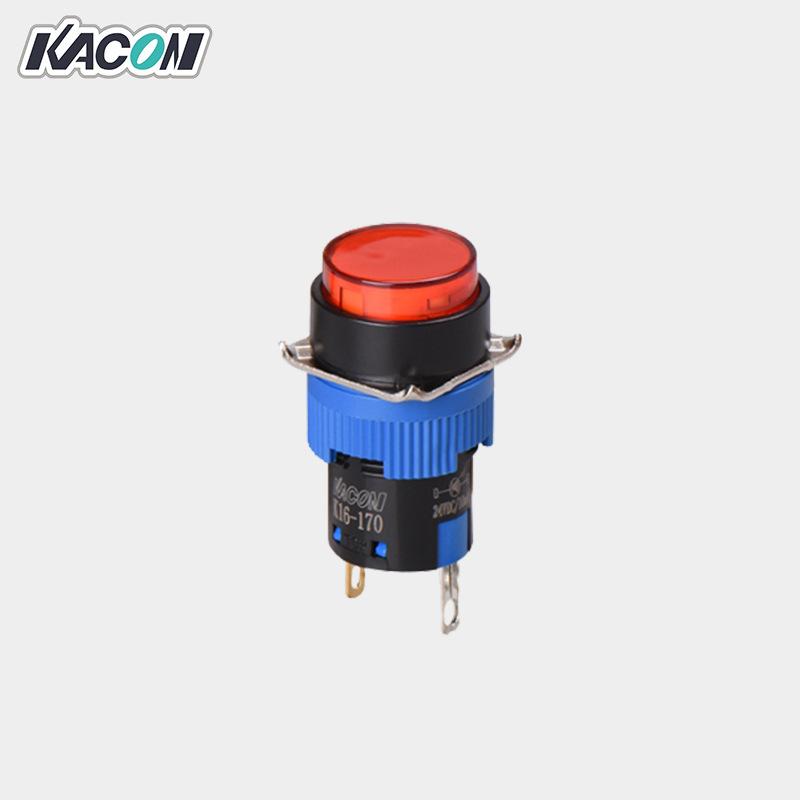 Kacon Đèn tín hiệu Bán buôn đèn báo nút Kacon / Kaicun K16-170 Lỗ gắn đèn 16mm Đèn báo tín hiệu LED