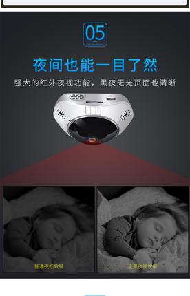 Camera giám sát  Camera toàn cảnh 360 độ toàn màn hình wifi điện thoại di động mạng không dây từ xa