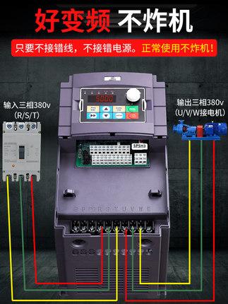 Thiết bị biến tần  Biến tần 1.5 2.2 3 3.7 4 5.5 7.5 11 15 18.5kw thống đốc động cơ ba pha 380v