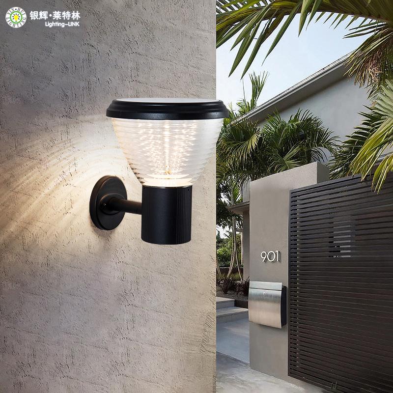 YINHUI Đèn LED sân vườn Đèn năng lượng mặt trời đèn sân ngoài trời không thấm nước ngoài trời hộ gia