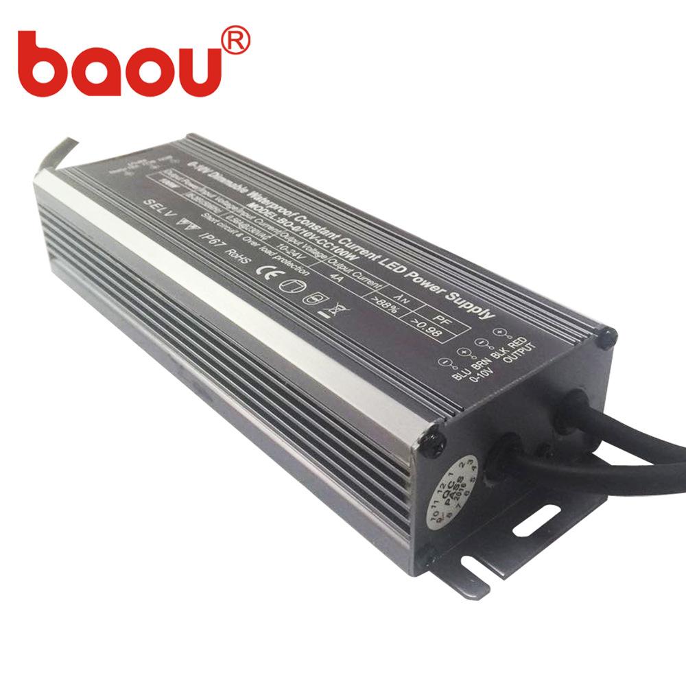 BAOU Bộ nguồn không đổi Nhà máy bán hàng trực tiếp 0-10V 100W điện áp làm mờ liên tục cung cấp điện