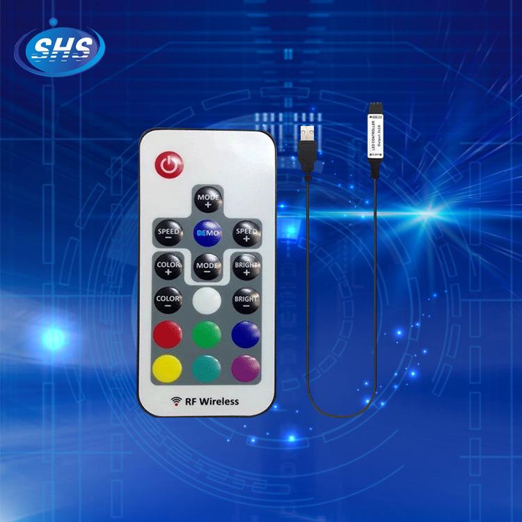 SHENHAISHENG Công tắc điều chỉnh độ sáng Cung cấp 17 phím RF Bộ điều khiển USB led điều khiển ánh sá