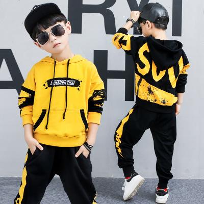 BUyOU Đồ Suits trẻ em Bộ đồ bé trai mùa xuân 2020 Bộ đồ thể thao trẻ em mới trong bộ đồ hai mảnh trù