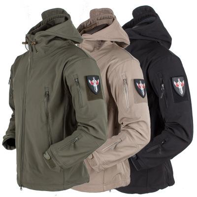 Áo nguỵ trang lính Xuyên biên giới ngoài trời vỏ mềm lông cừu ngụy trang quần áo tùy chỉnh chống thấ