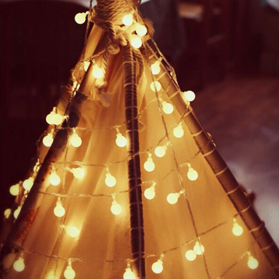 Đèn trang trì Led bóng nhỏ trong nhà và ngoài trời chuỗi đèn trang trí Giáng sinh đầy màu sắc đèn nh