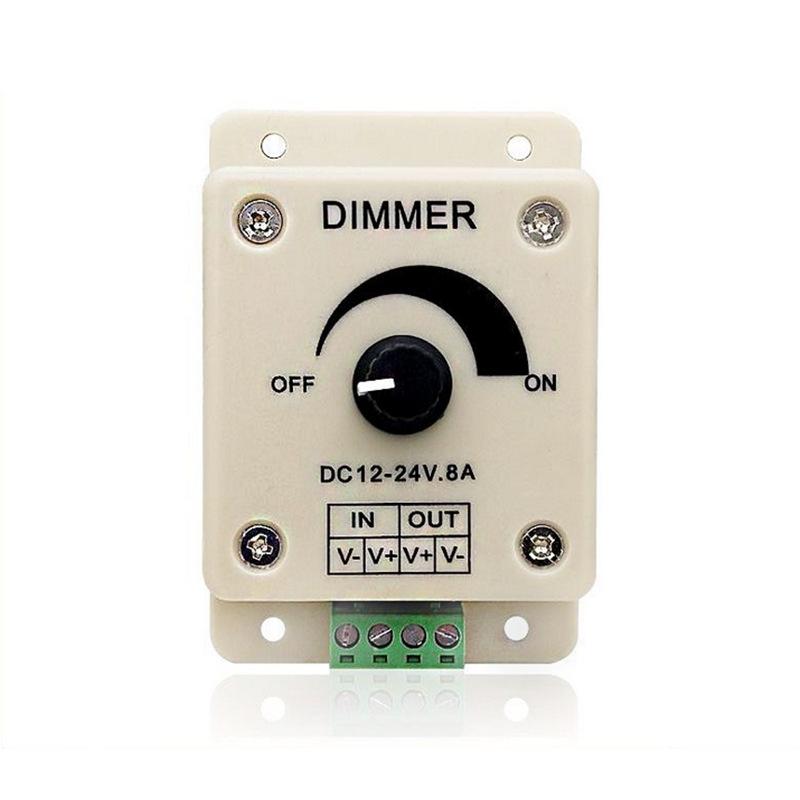 Công tắc điều chỉnh độ sáng Đèn LED điện áp thấp với bộ điều chỉnh độ sáng bằng tay, đèn đơn sắc Aur