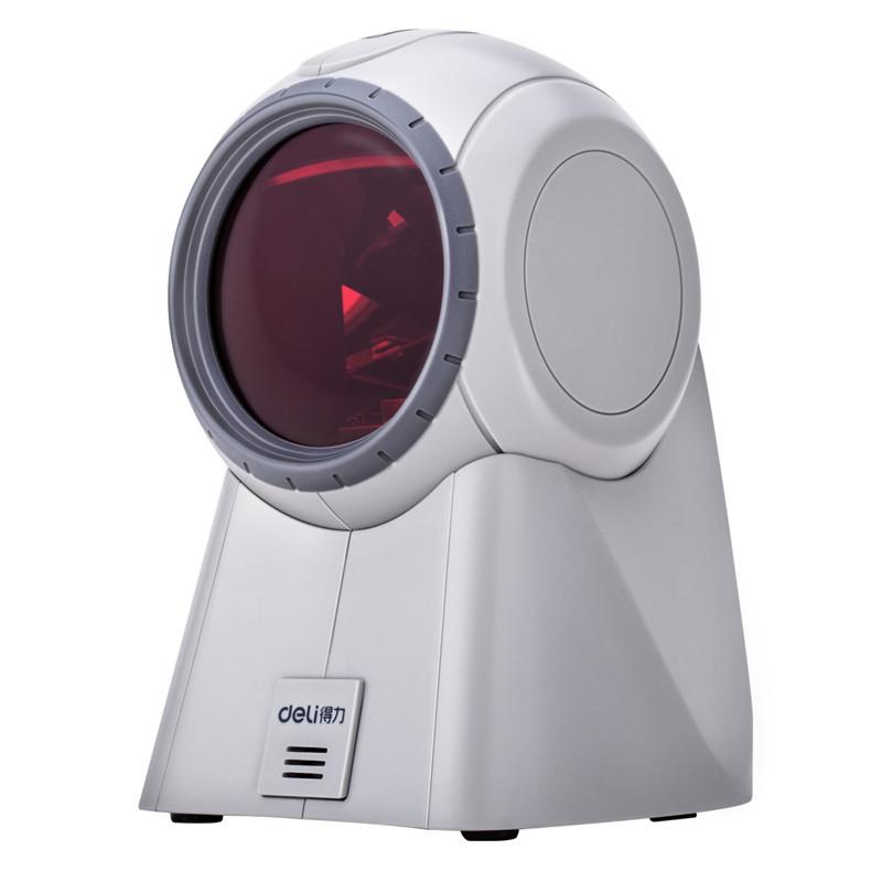 DELI Máy scan Máy quét siêu thị 14884 có mã vạch WeChat Nhân viên thu ngân có dây Máy quét laser