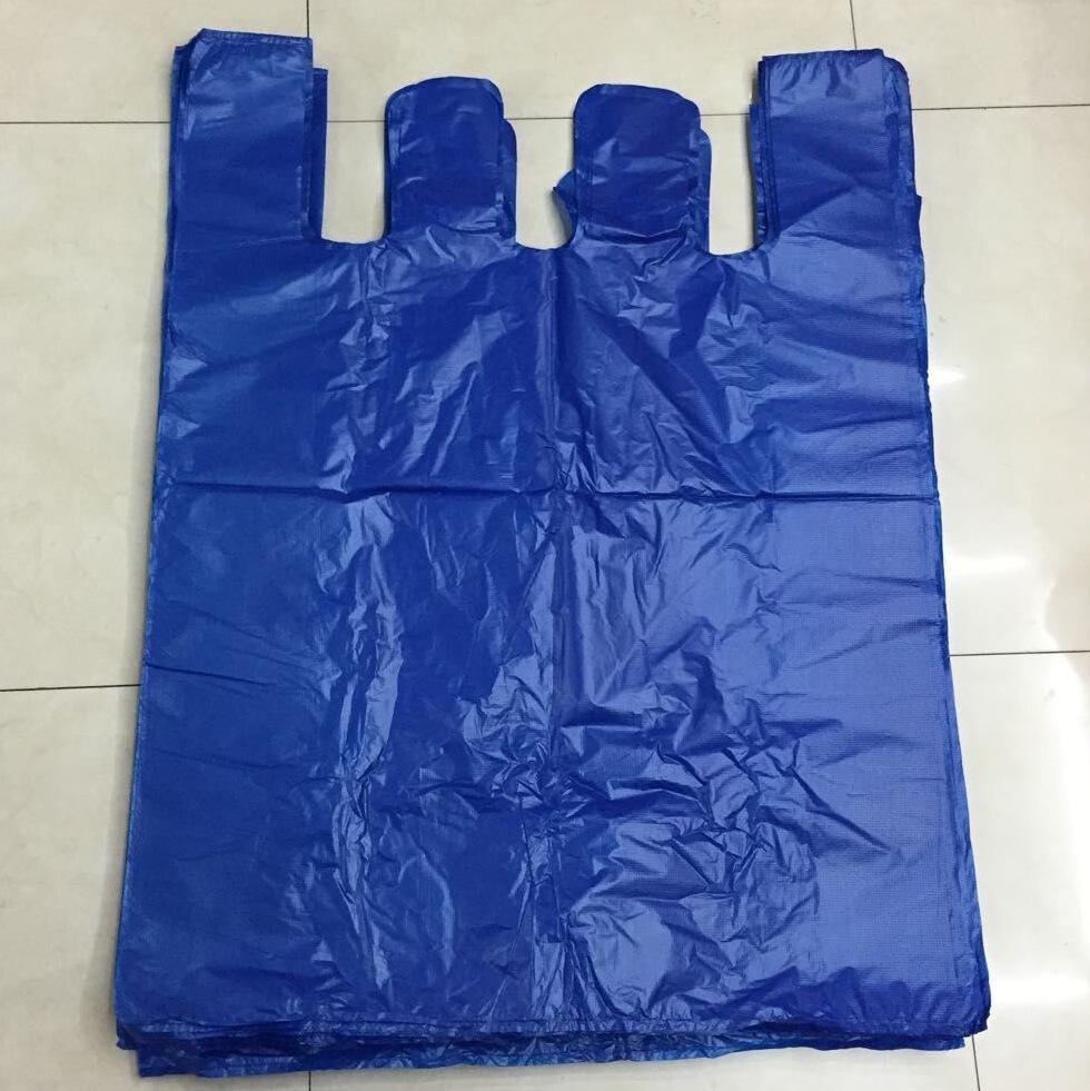 Túi xốp 2 quai Các nhà sản xuất cung cấp thêm 75 * 100cm65 * 90 và các túi vest màu xanh khác