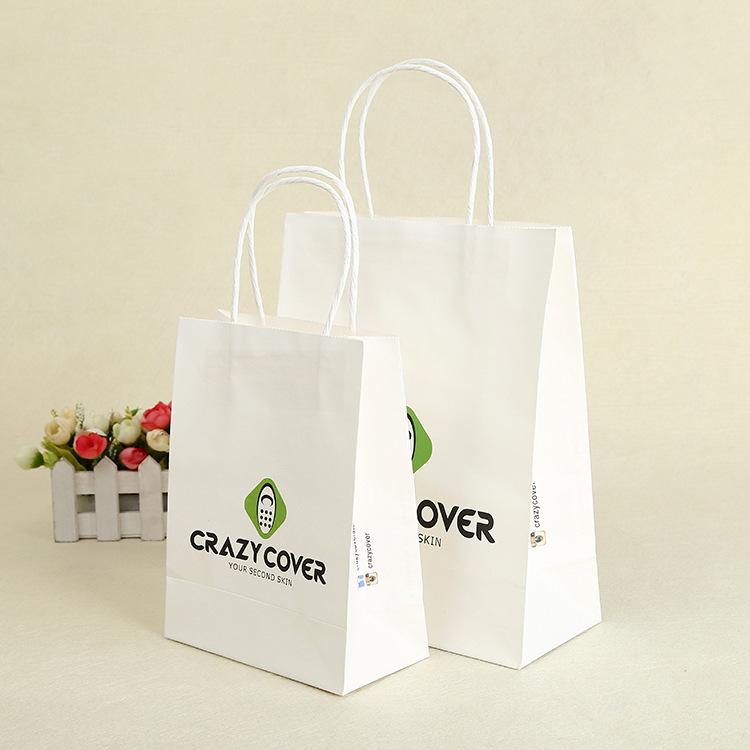 Thị trường bao bì khác / bao bì vải / bao bì giấy Túi giấy kraft màu tùy chỉnh bảo vệ môi trường quầ