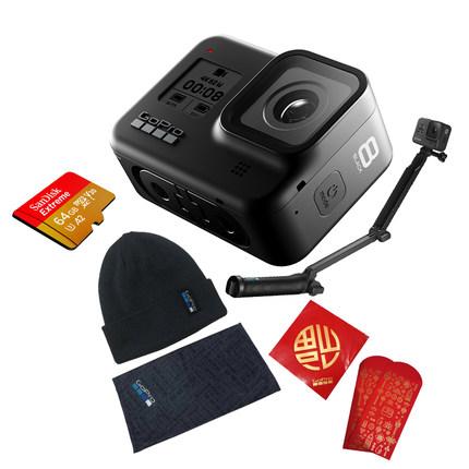 GoPro Máy ảnh thể thao  HERO8 Black HD camera thể thao vlog camera hộp quà đỏ tùy chỉnh