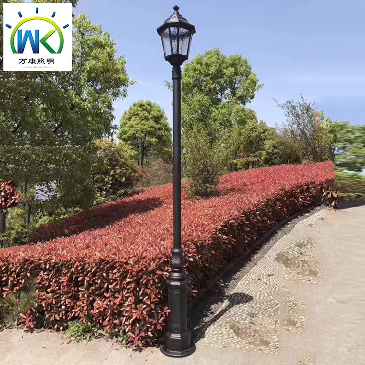WANKANG Đèn LED sân vườn Các nhà sản xuất cung cấp đèn sân vườn ngoài trời một đầu hiện đại theo pho