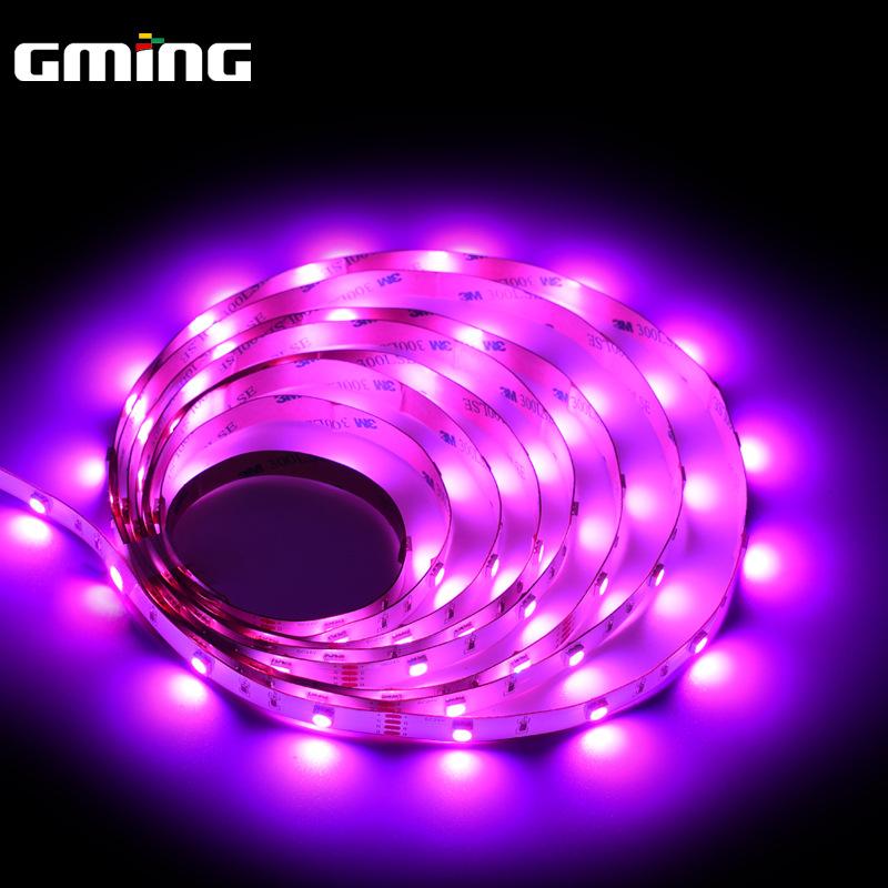 GminG Đèn LED dây Đèn LED điện áp thấp với 5050RGB thanh ánh sáng đủ màu linh hoạt thanh neon đèn bầ