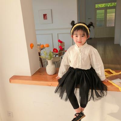 WEINIGUO Áo Sơ-mi trẻ em Mùa xuân 2020 quần áo trẻ em mới một thế hệ cô gái khí chất áo sơ mi ren Ph