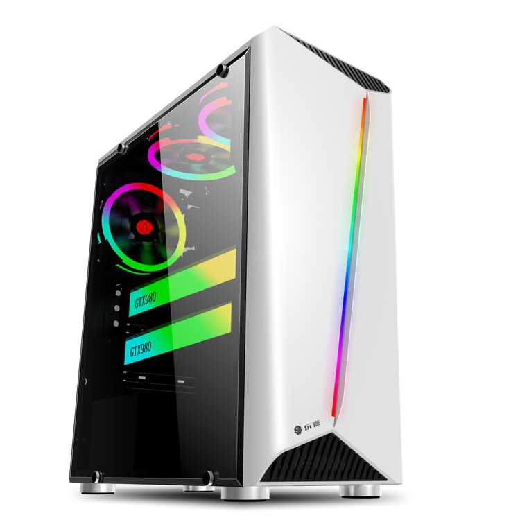 WANJIA Thùng CPU Streamer mới đầy đủ bên trong trường hợp chơi game trong suốt trường hợp máy tính đ
