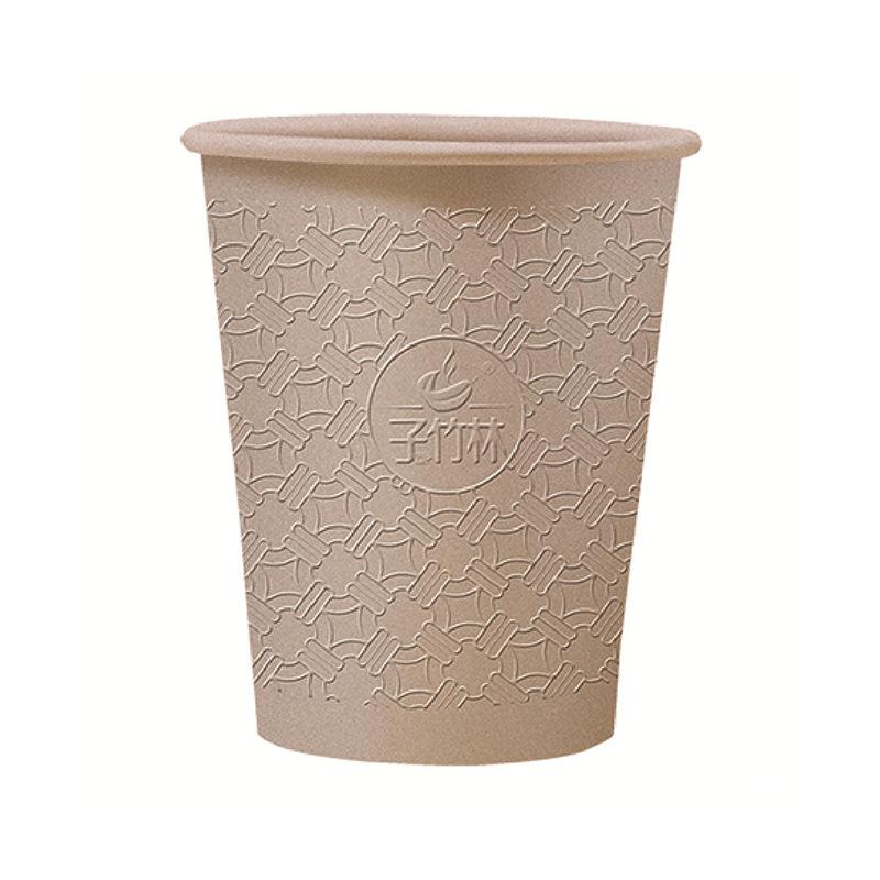 ZIZHULIN Ly giấy Cách nhiệt dày cốc giấy dùng một lần sợi tre sê-ri 9oz uống nước trà sữa cốc cà phê