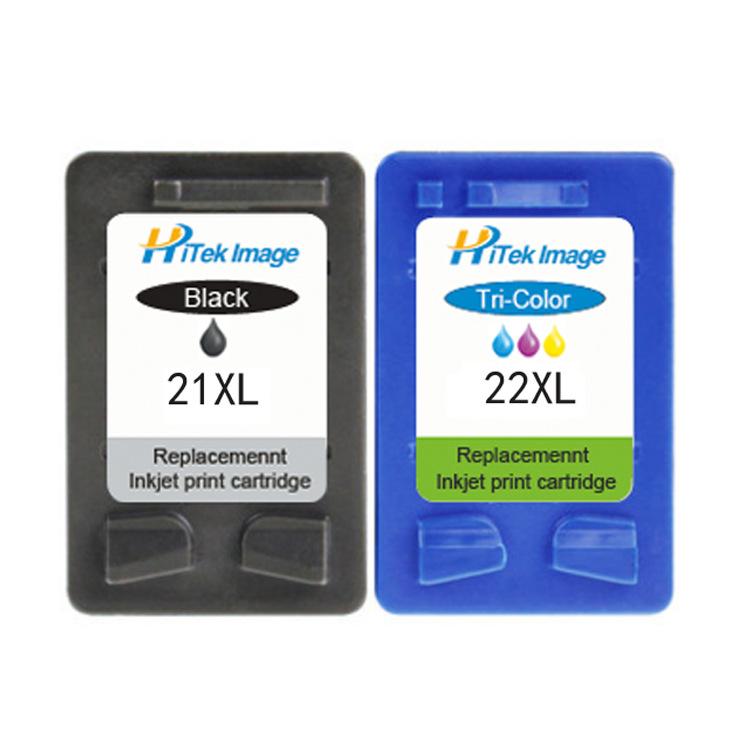 Hitek imag Hộp mực nước Thích hợp cho hộp mực HP21 tương thích Hộp mực HP22 dung lượng lớn C9351AA F
